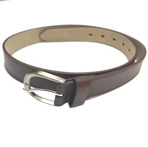 Womens Brown Belt Man Made Materials Womens